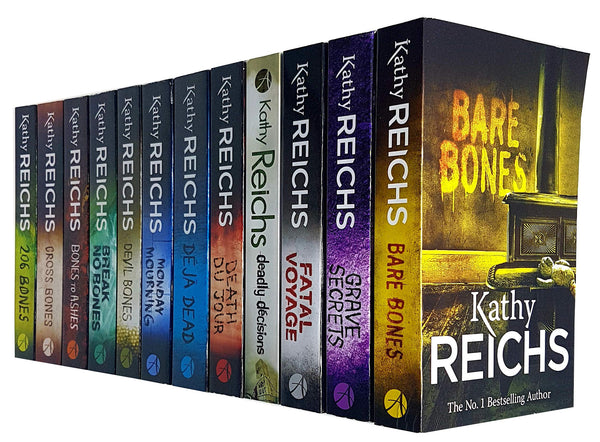 Kathy Reichs Temperance Brennan Series 12 Books Set Collection (Series 1-2)