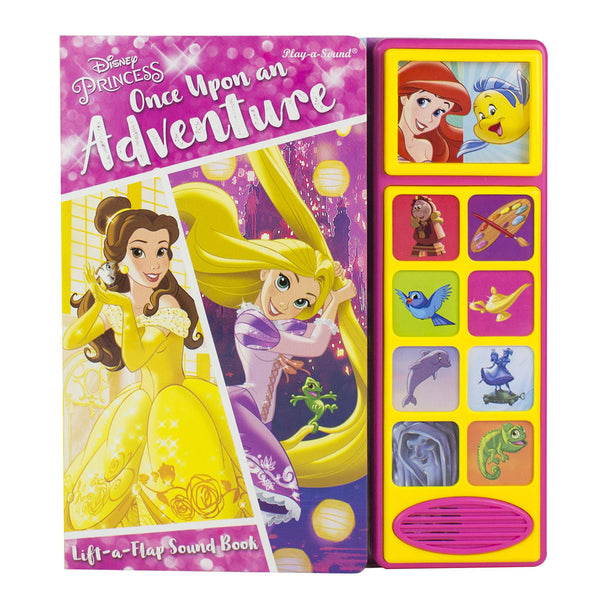 Disney Princess Once Upon An Adventure, Lift A Flap Sound Book, Play A Sound...