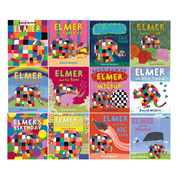 Elmer 12 Classic Picture Books Collection Set by David McKee