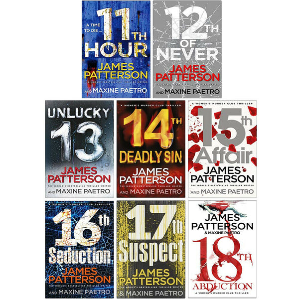 James Patterson Women's Murder Club Series 11-18 Collection 8 Books Set