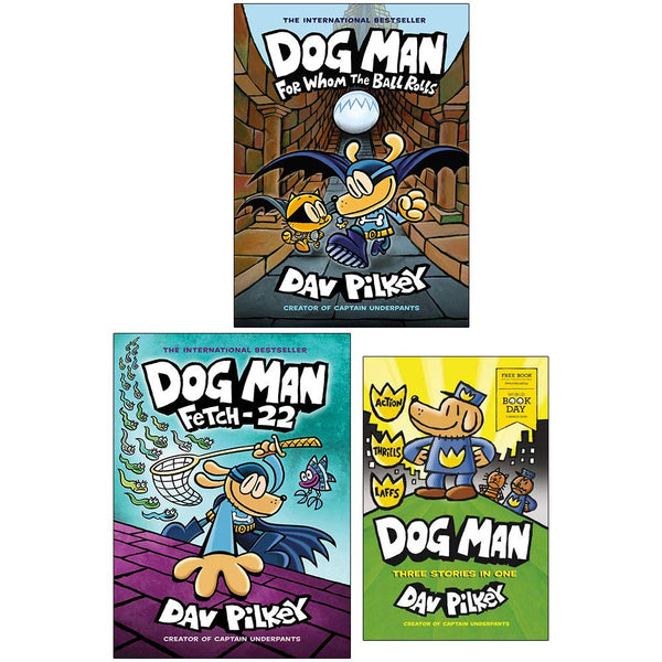 Dog Man 3 Books Collection Set 7, 8 & World Book Day 2020 By Dav Pilkey