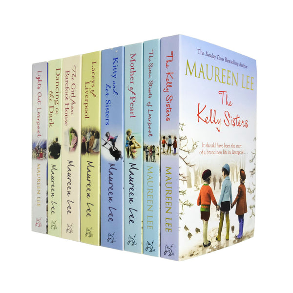 Maureen Lee Collection 8 Books Set Mother Of Pearl, Lights Out Liverpool NEW
