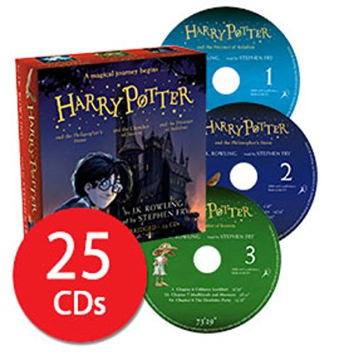 Harry Potter Books 1-3 Audio Collection Read By Stephen Fry 25 CDs