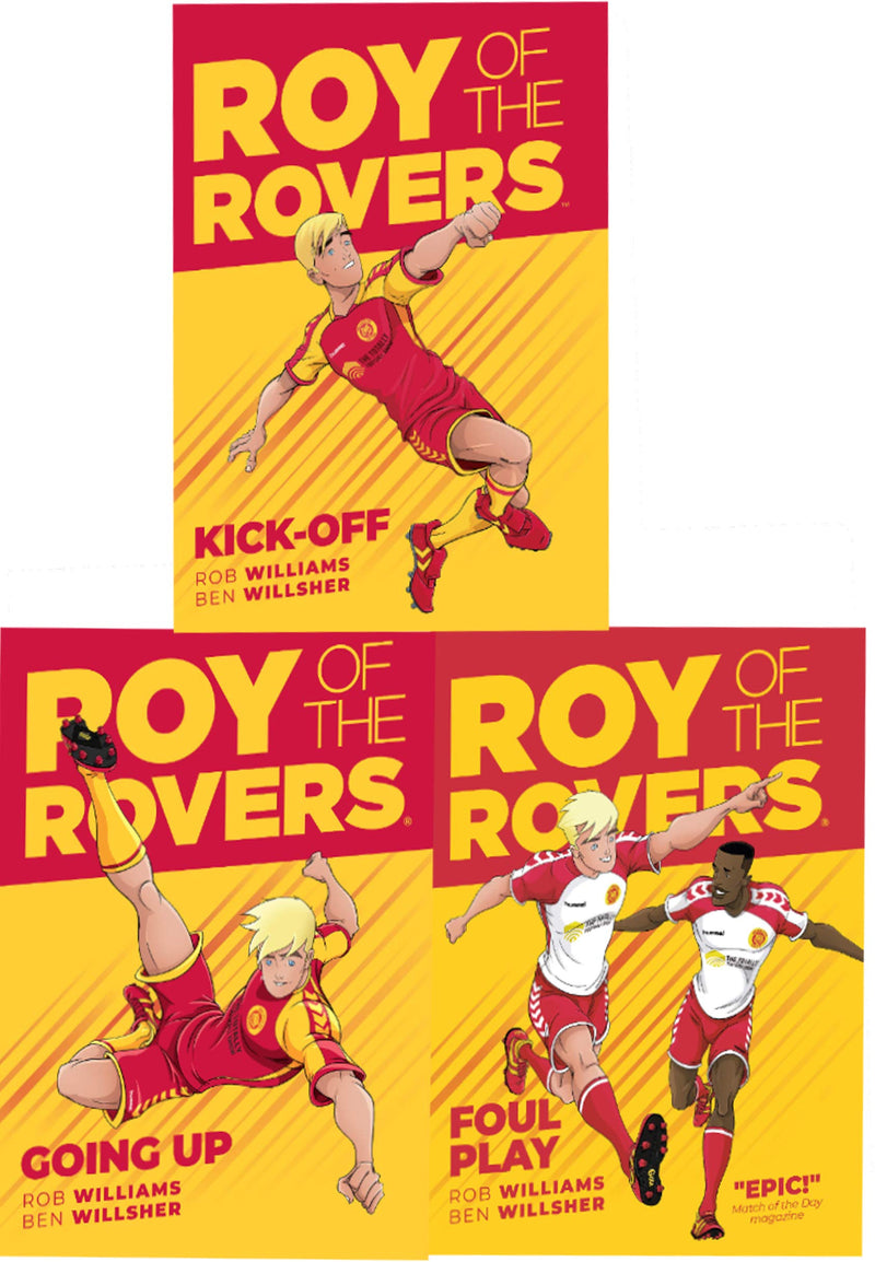 Roy of the Rovers Graphic Novel 3 Books Collection Set Kick Off Foul Play Going up