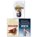 Bernard Cornwell Grail Quest 3 books Pack Set Collection (Vagabond, Harlequin, Heretic)
