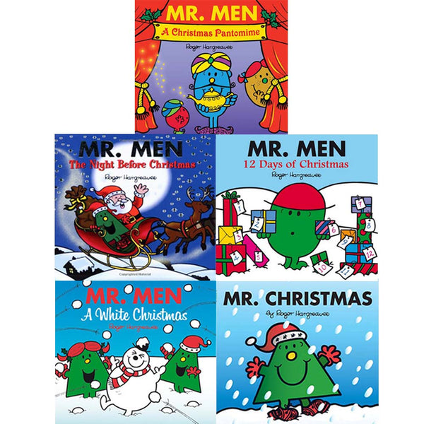 Mr Men Collection 5 Books Set Christmas Pack Mr Christmas, A white christmas