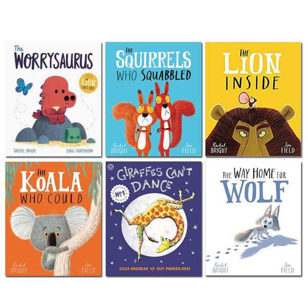 Rachel Bright 6 Books Set Collection, Worrysaurus, The Lion Inside...