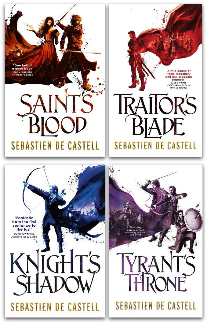 The Greatcoats Series 4 Books Collection Set By Sebastien De Castell - Traitors Blade Knights Shad..