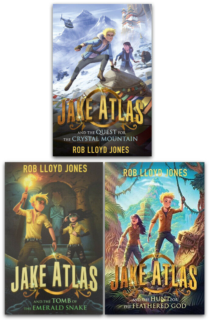 Jake Atlas Series 3 Books Collection Set by Rob Llyod Jones The Crystal Mountain