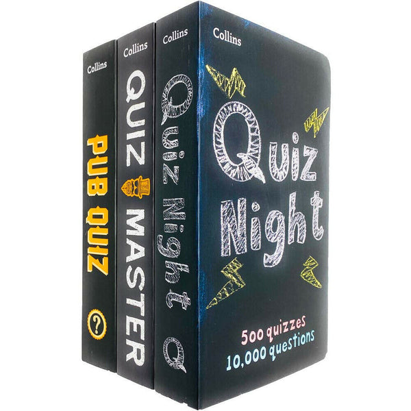 Collins Quiz Puzzles 3 Books Collection Set Paperback