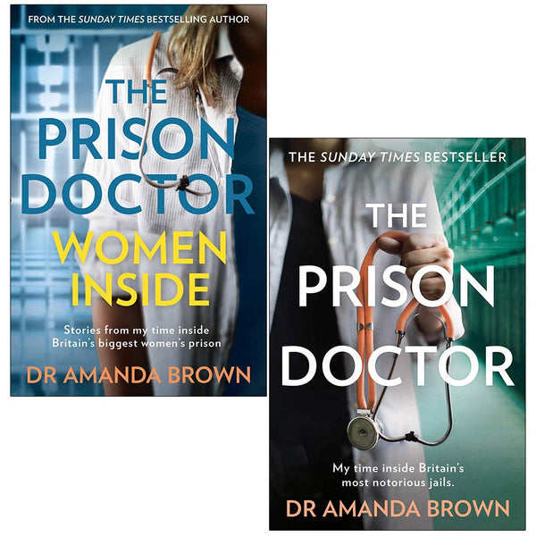 Amanda Brown Prison Doctor 2 Books Collection Set Prison Doctor Women Inside