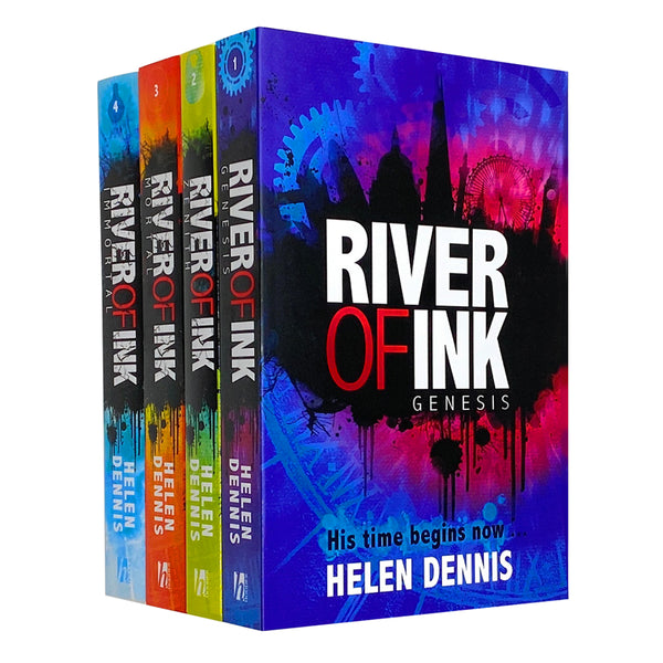 River of Ink Series 4 Books Collection Set By Helen Dennis (Genesis, Zenith, Mortal, Immortal)