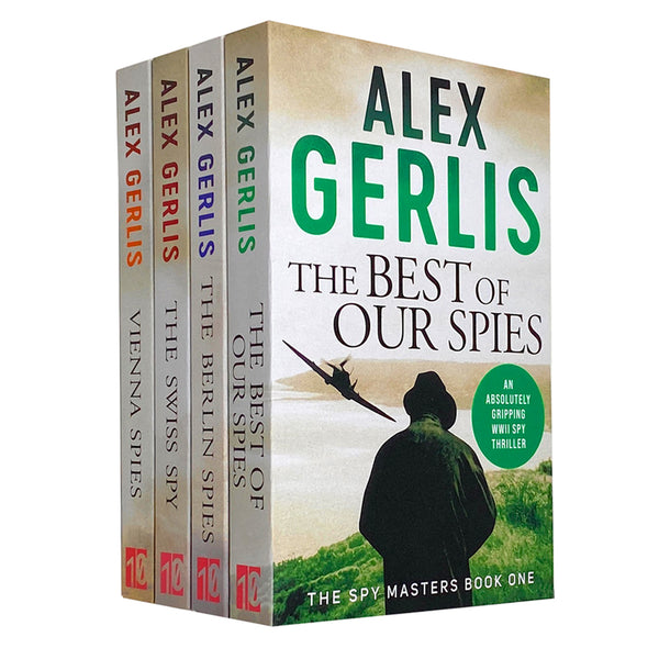 Alex Gerlis Spy Masters Series 4 Books Collection Set (The Best of Our Spies, The Swiss Spy, Vienna Spies, The Berlin Spies)