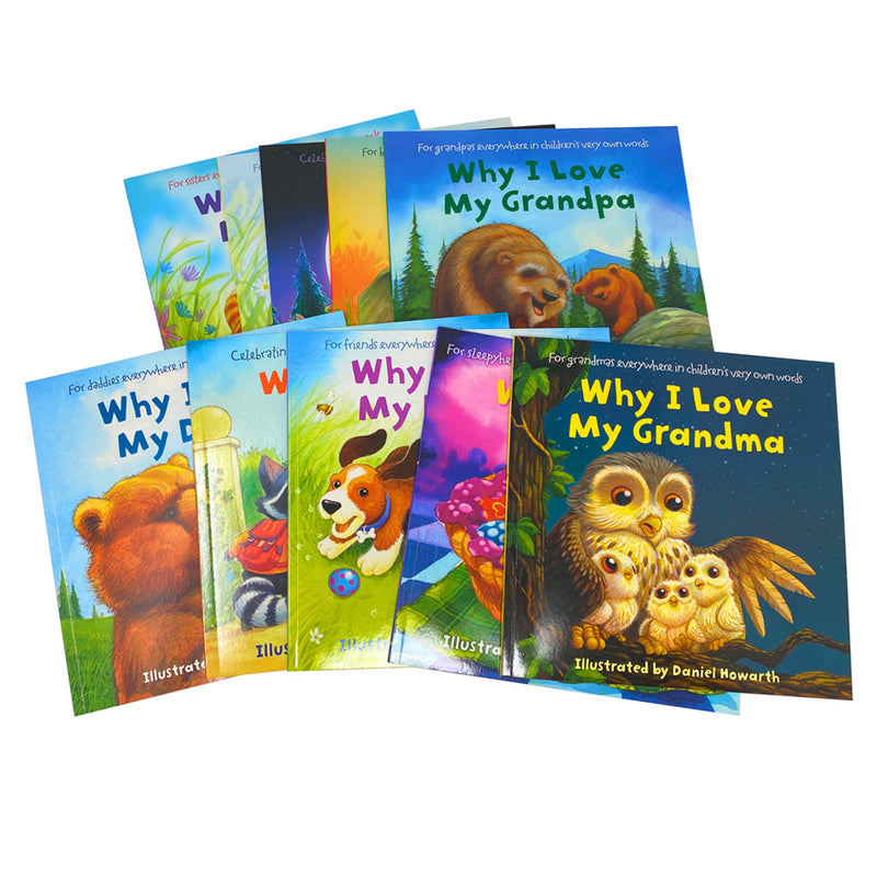 Why I Love 10 Picture Flat Books Children Collection Paperback Set By Daniel Howarth