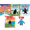 Chris Judge 5 Picture Flat Books Collection Set Brave Beast, Explorer, Snow, Tin