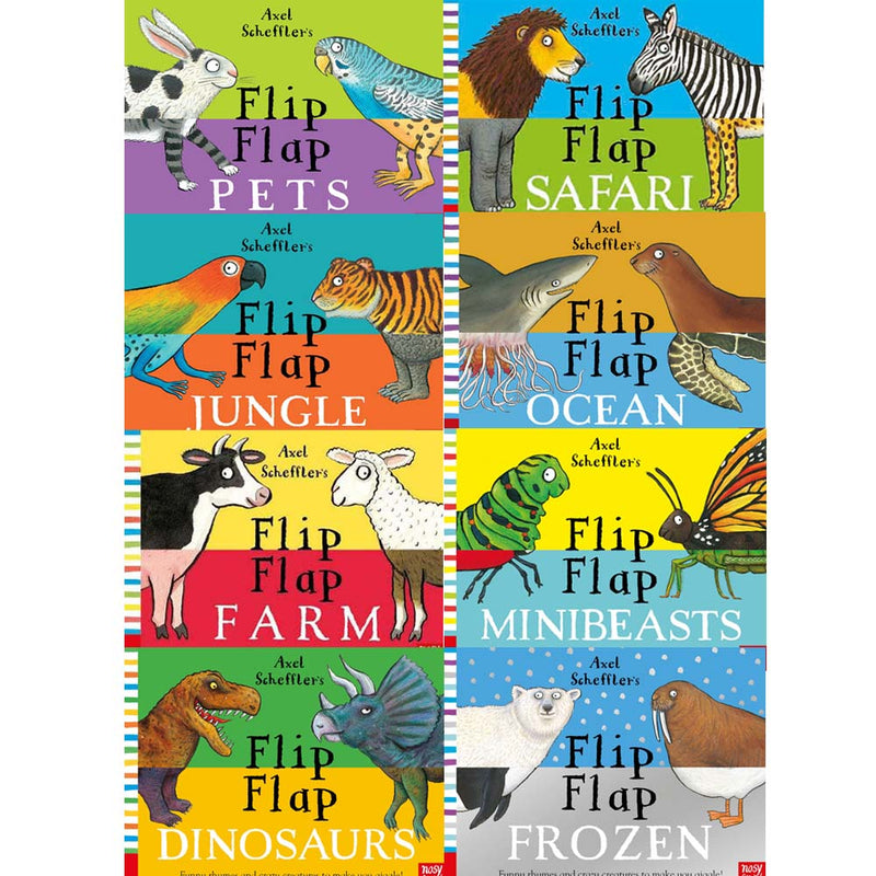 Axel Scheffler's Flip Flap Children's Books 8 Books Set Collection Hardcover