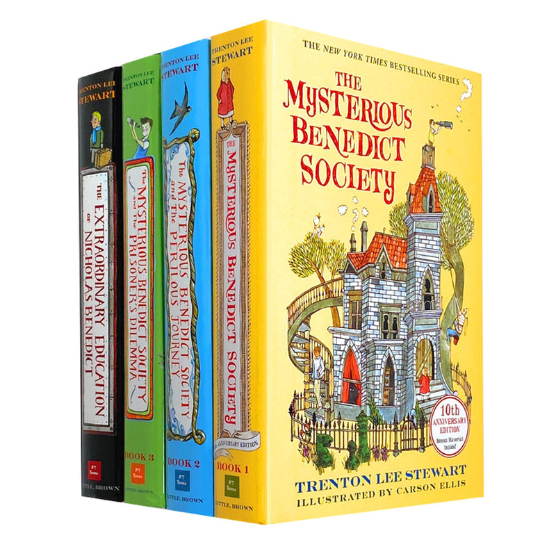 The Mysterious Benedict Society 4 Books Set Collection Trenton Lee Stewart