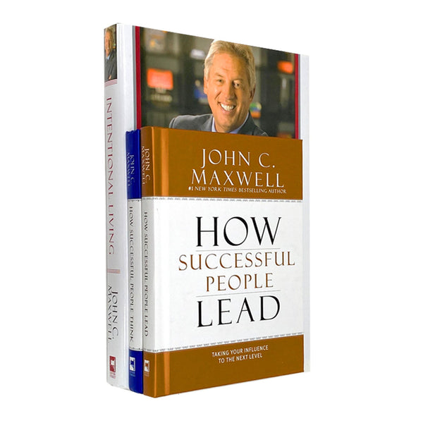 John C Maxwell 3 Books Collection Set Intentional Living, Think, Lead