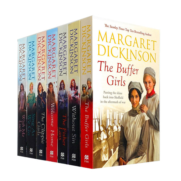 Margaret Dickinson 7 Books Collection Set Pack The Clippie Girls, Buffer Girls