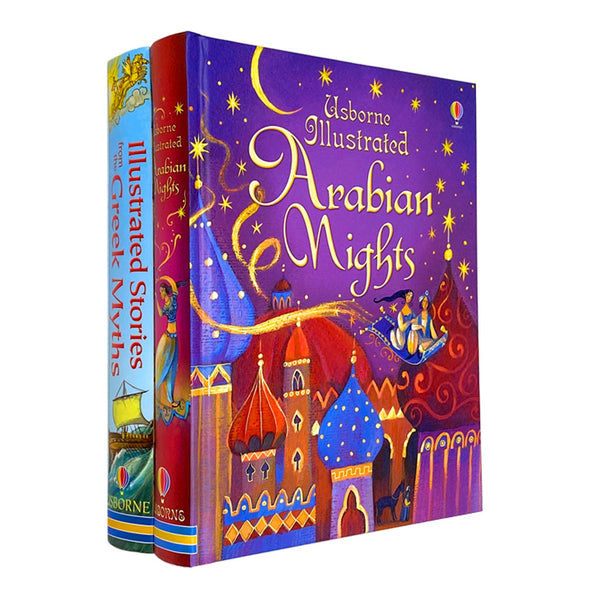 Usborne Illustrated Story Collection Set 2 Books Greek Myths Arabian Nights