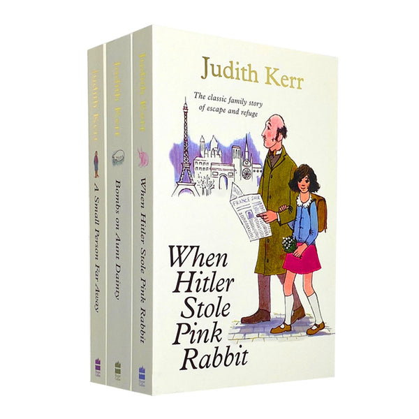 Judith Kerr 3 Books Collection Set When Hitler Stole Pink Rabbit, Bombs on Aunt
