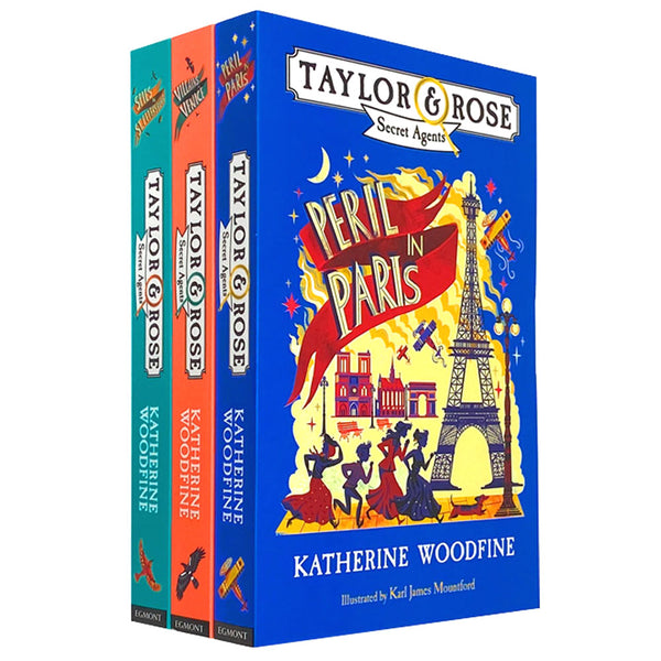 Katherine Woodfine 3 Books Collection Peril in Paris, Villains in Venice