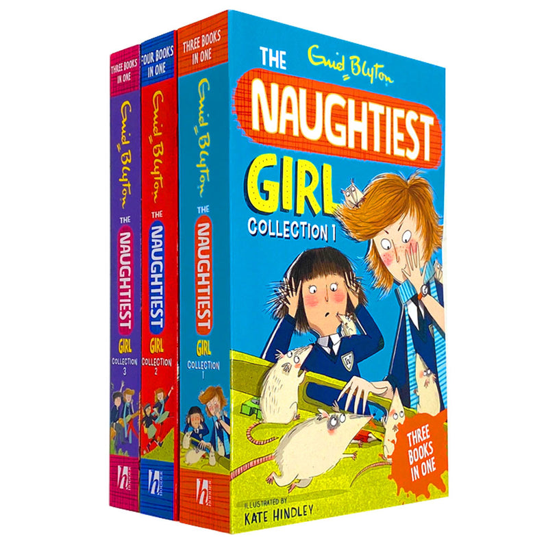 The Naughtiest Girl 3 Book Set Full Collection By Enid Blyton (10 in 3 Books)