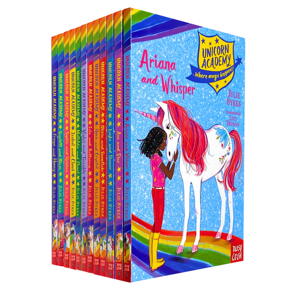 Julie Sykes Unicorn Academy Where Magic Happens Series 12 Books Collection Set