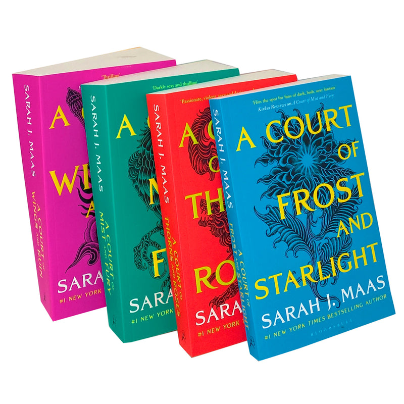 Sarah J. Maas 4 Books Collection Set A Court of Thorns and Roses Series