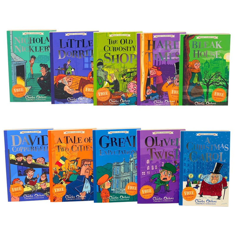 The Charles Dickens Children's Collection, Easy Classics, 10 Books Set, Oliver Twist...