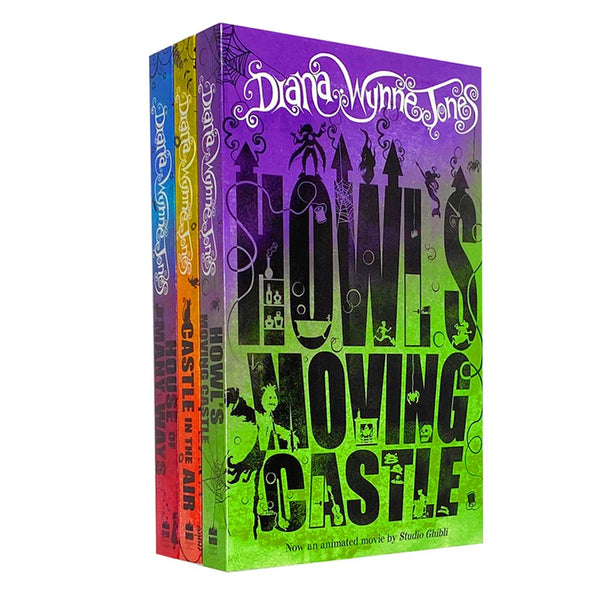 Diana Wynne Jones Collection 3 Books Set, Howls Moving Castle...
