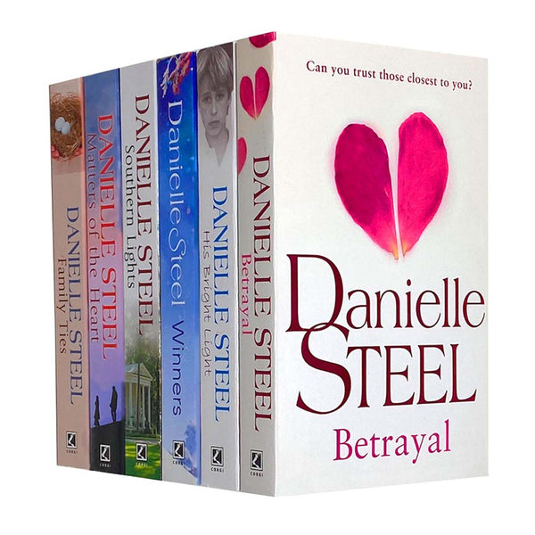 Danielle Steel Series 2 Collection 6 Books Set, Southern Lights, Family Ties...