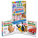 123 Let's Learn Numbers Wipe Clean 4 Books Set inc Pen