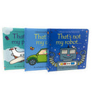 Thats Not My 3 Books Bundle Collection Set Fiona Watt Car Plane Robot Series 1