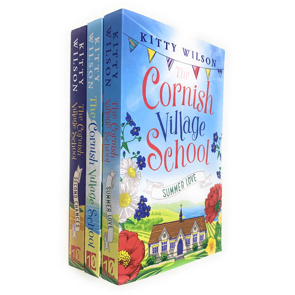 Cornish Village School Series Collection 3 Books Set by Kitty Wilson, Summer Love