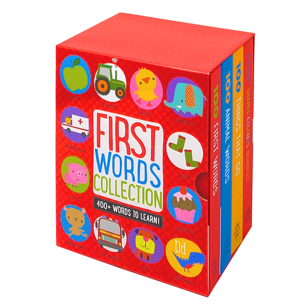 First Words Collection 400+ Words To Learn 4 Books Set Collection