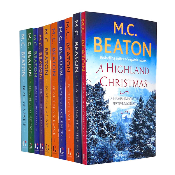 M.C Beaton A Hamish Macbeth Festive Mystery 10 Books Set Collection