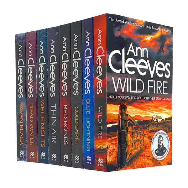 Shetland Series 8 Books Set Collection by Ann Cleeves, Raven Black, Wild Fire...