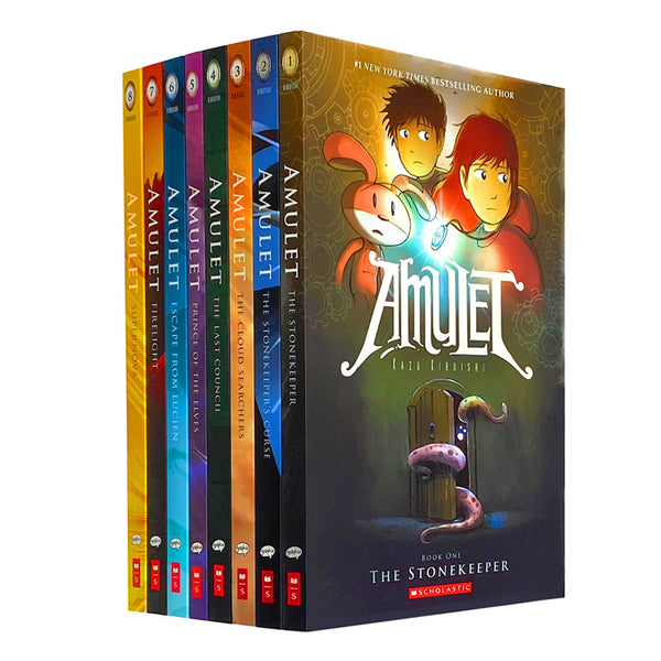 Amulet 8 Books Set Collection Pack By Kazu Kibuishi