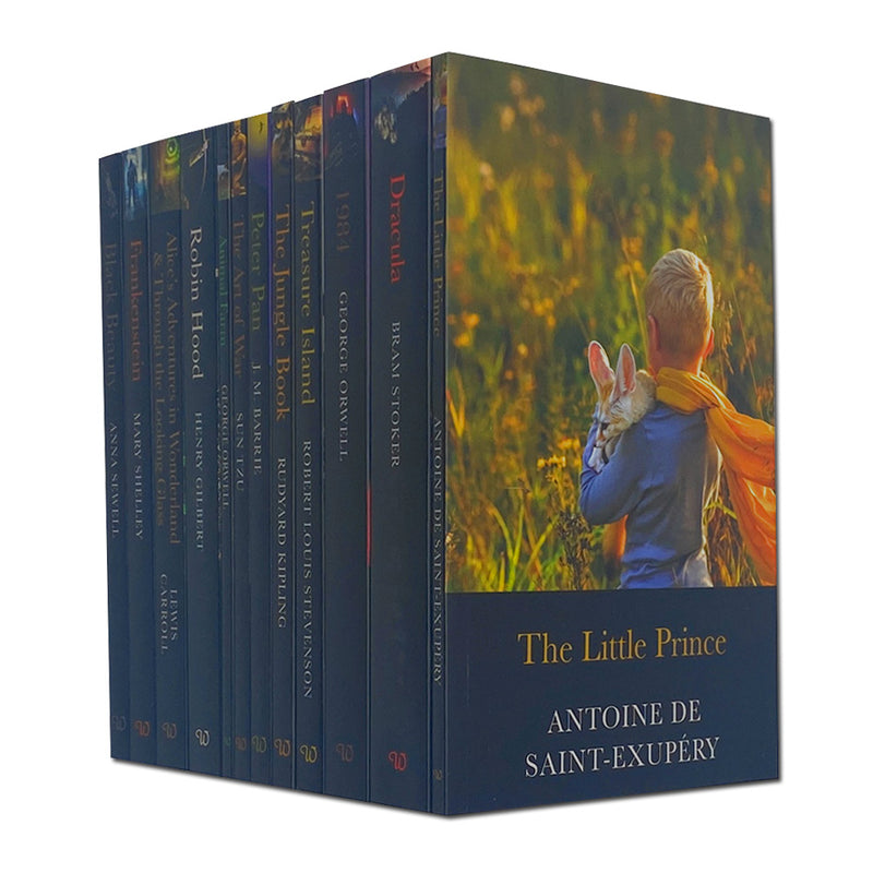 Classic 12 Books Set Collection, The Little Prince, The Jungle Book, Peter Pan...