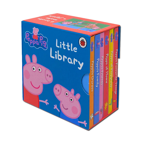 Peppa Pig Little Library 6 Mini Books Collection Set by Ladybird