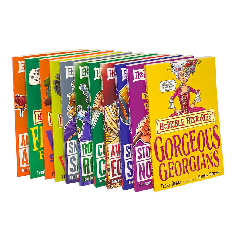Horrible Histories 11 Books Set Collection by Terry Deary