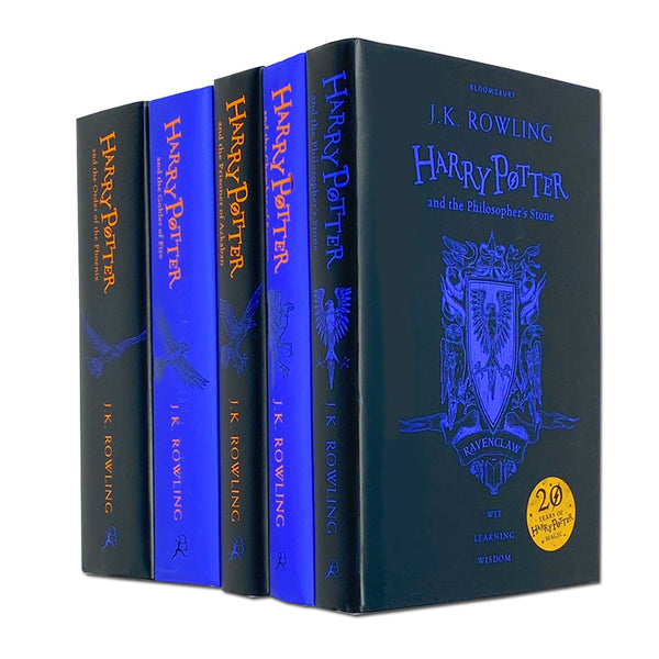 Harry Potter 5 Books Set Collection Ravenclaw Edition By J.K Rowling