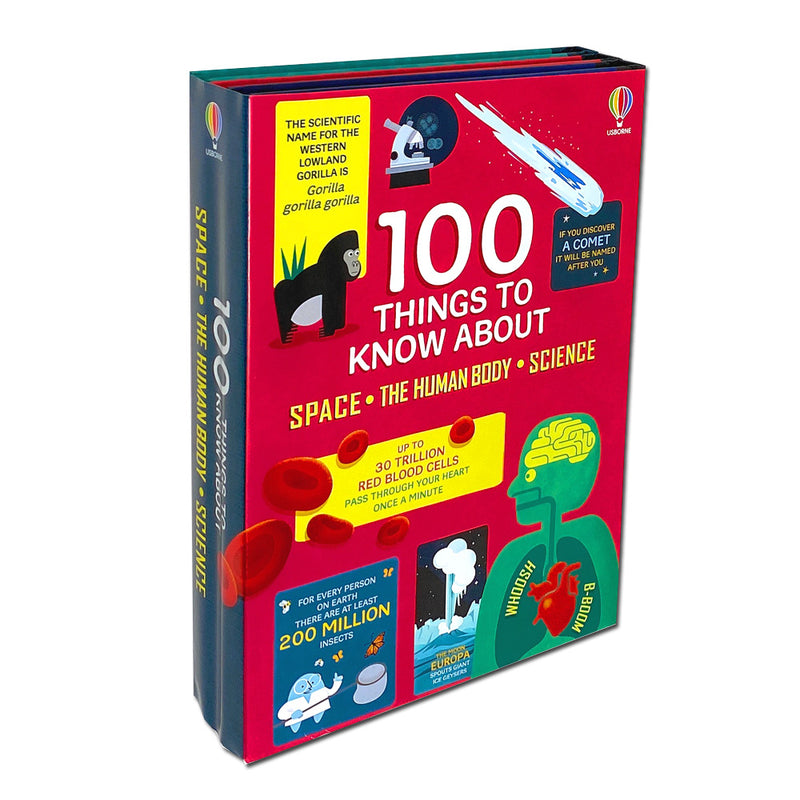 100 Things to Know About Space, Science and Human Body 3 Books Set Collection by Alex Frith , Jerome Martin & Alice James