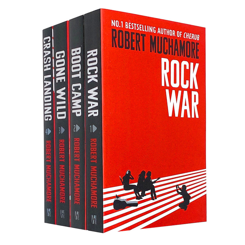 Robert Muchamore Rock War Series (1-4) Collection 4 Books Set Pack