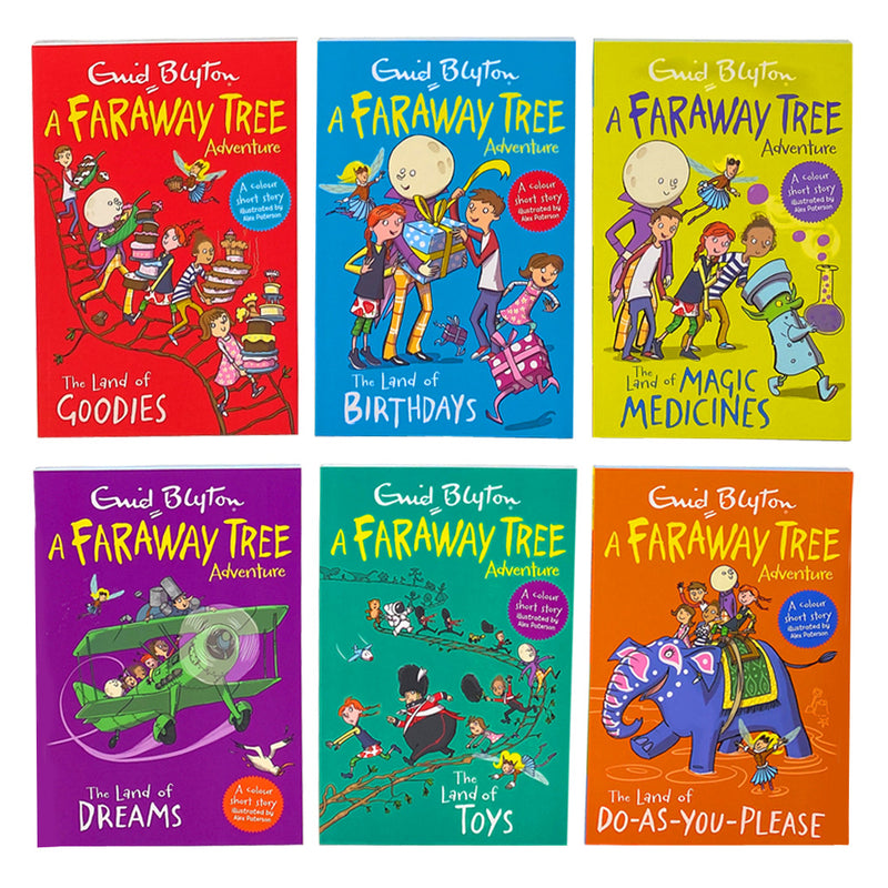 Enid Blyton Collection A Faraway Tree Adventure Series 6 Books Set Colour illustrations