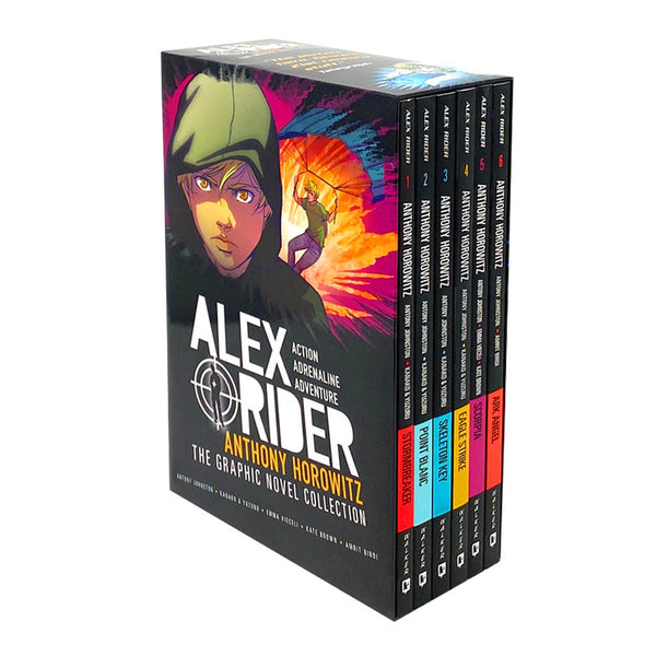Alex Rider Graphic Novel 6 Books Children Set By Anthony Johnston