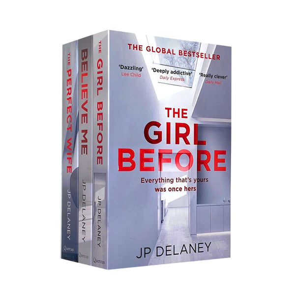 JP Delaney 3 Books Collection Set The Girl Before, Believe Me & The Perfect Wife