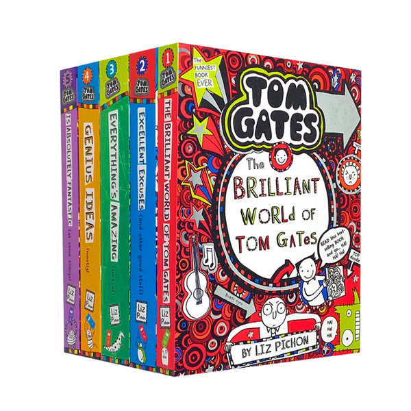 Tom Gates 5 Books Collection Set By Liz Pichon Series 1 (1-5) Excellent Excuses
