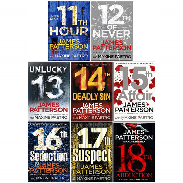 James Patterson Womens Murder Club Series 8 Books Collection Set (Books 11-18)
